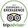 Certificate of Excellence TripAdvisor 2016