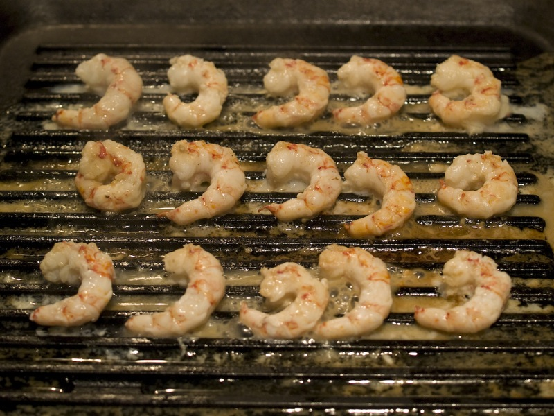 Prawns cooking